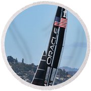 Once In San Francisco Round Beach Towel
