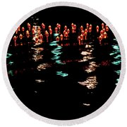 Round Beach Towel featuring the photograph The Colors Of The Voyage by Mark Dodd
