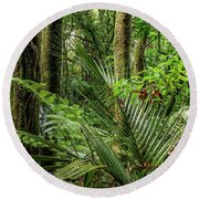 Round Beach Towel featuring the photograph Tropical Jungle by Les Cunliffe