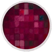 81 Color Fields - Madder Lake Round Beach Towel