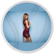 87972 Taylor Swift Women See Through Clothing Round Beach Towel