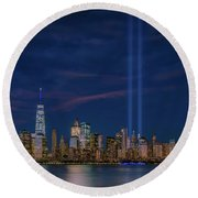 9/11 Memorial Round Beach Towel