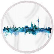 Berlin Germany Skyline Round Beach Towel