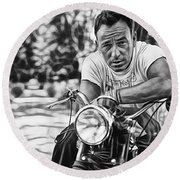Bruce Springsteen Collection Round Beach Towel