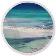 Round Beach Towel featuring the photograph Crete by Milena Boeva