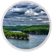 Long Point Summersville Lake Round Beach Towel