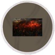 9042 1 Other S Fire Destruction Round Beach Towel