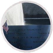 911 Memorial Pool-6 Round Beach Towel