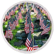 911 Shoe Memorial Round Beach Towel