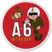 A-6 Intruder Round Beach Towel
