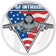 A-6f Intruder Round Beach Towel