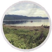 A Beautiful Cloudy Day Round Beach Towel