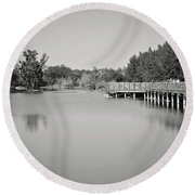 Round Beach Towel featuring the photograph A Beautiful Day by Kim Hojnacki