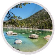 A Beautiful Day Round Beach Towel by Nancy Marie Ricketts