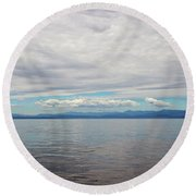 A Beautiful Day On The Monterey Bay Round Beach Towel