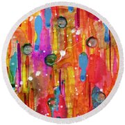 A Beautiful Mess Round Beach Towel by Desiree Paquette