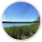 A Beautiful Morning In The Archipelago Round Beach Towel