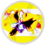A Beautiful Orchid Round Beach Towel