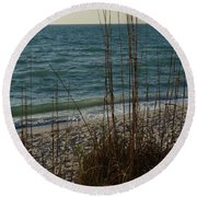 A Beautiful Planet Round Beach Towel