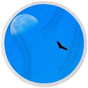 A #bird's Eye #view Of The #moon Over Round Beach Towel