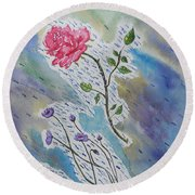 A Bit Of Whimsy Round Beach Towel by Carol Crisafi