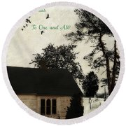 A Blessed Christmas... Round Beach Towel