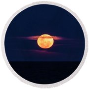 A Bloody Moon Round Beach Towel