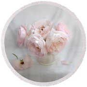 A Bouquet Of June Roses #2 Round Beach Towel by Louise Kumpf