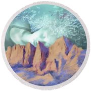A Breath Of Tranquility Round Beach Towel