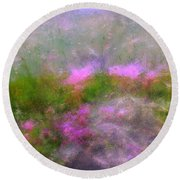 A Breeze In Monet's Garden Round Beach Towel