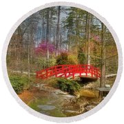 A Bridge To Spring Round Beach Towel