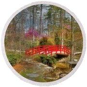 A Bridge To Spring Round Beach Towel by Benanne Stiens