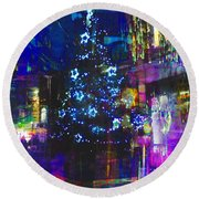 Round Beach Towel featuring the photograph A Bright And Colourful Christmas by LemonArt Photography