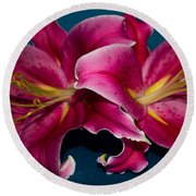 A Bunch Of Beauty Round Beach Towel by Roberta Byram