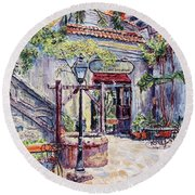 Cafe By The Hotel, Intramuros, Manila Round Beach Towel