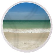 A Calm Wave Round Beach Towel by Christopher L Thomley