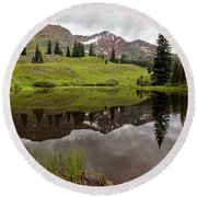 A Calming Effect Round Beach Towel by Jim Garrison
