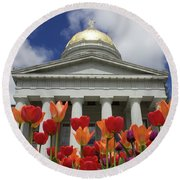 A Capitol Day Round Beach Towel by Alice Mainville