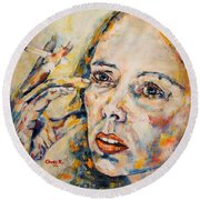 A Case Of You Round Beach Towel