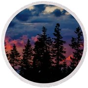 Round Beach Towel featuring the photograph A Chance Of Thundershowers by Albert Seger