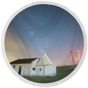 A Church In Fafe Round Beach Towel