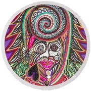 A Circle Of Thoughts Round Beach Towel