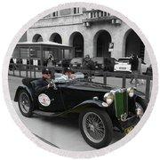 A Classic Vintage British Mg Car Round Beach Towel