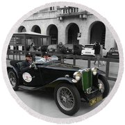 A Classic Vintage British Mg Car Round Beach Towel