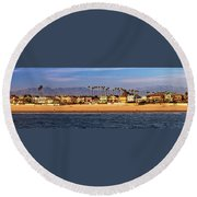 Round Beach Towel featuring the photograph A Clear Day At The Beach by James Eddy