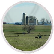 A Clear November Day Round Beach Towel
