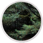 A Clearing In The Wild Round Beach Towel