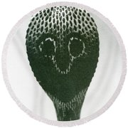 A Cobra With Raised Head And Flared Hood  Round Beach Towel