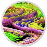 A Colorful Series Round Beach Towel by Kellice Swaggerty
