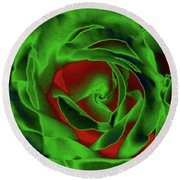 A Complimentary Rose Round Beach Towel